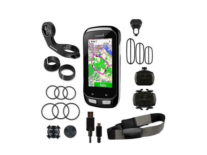 GARMIN Edge 1000 GPS-enabled computer - performance bundle - speed / cadence and HRM Run click to zoom image