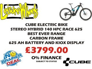 CUBE Stereo Hybrid 140 HPC Race 625 next day delivery click to zoom image