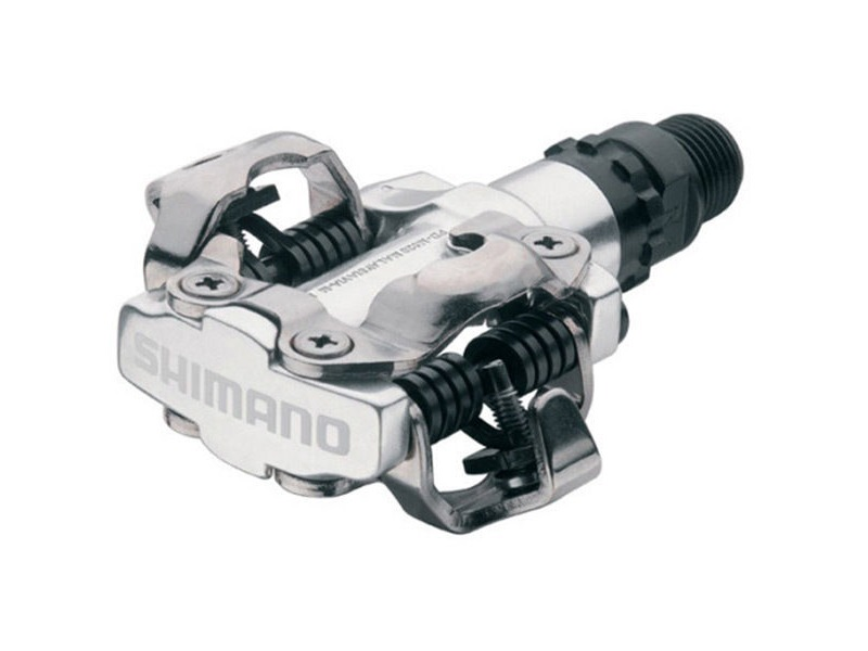 SHIMANO PD-M520 MTB SPD pedals - two sided mechanism, silver click to zoom image